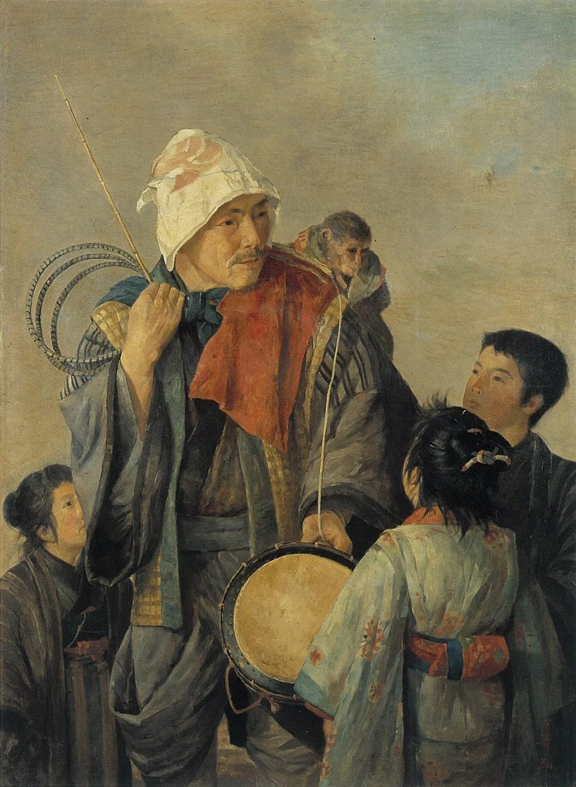 渡部審也「猿曳図」1898年.jpg