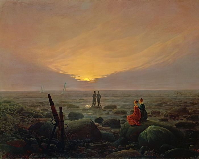 Caspar David Friedrich - Moon Rising Over the Sea 1821  - (MeisterDrucke-80600).jpg